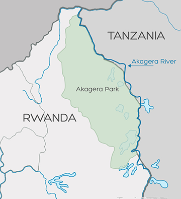 Map of Akagera River