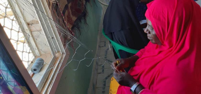 mending nets Somalia