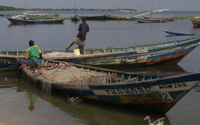 Fisherman in Lake Victoria