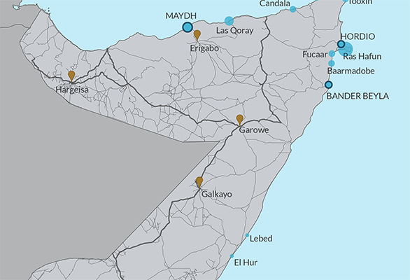 map somali fishing development